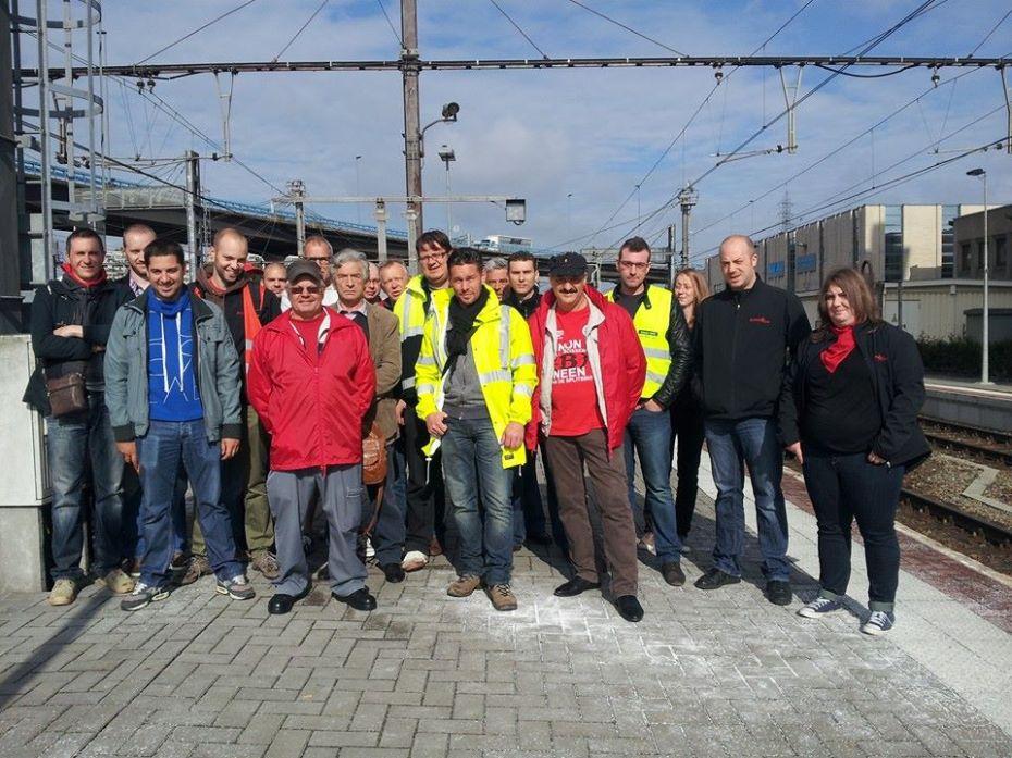 Les Jeunes FGTB Charleroi & Sud Hainaut en soutien aux Camarades cheminots!